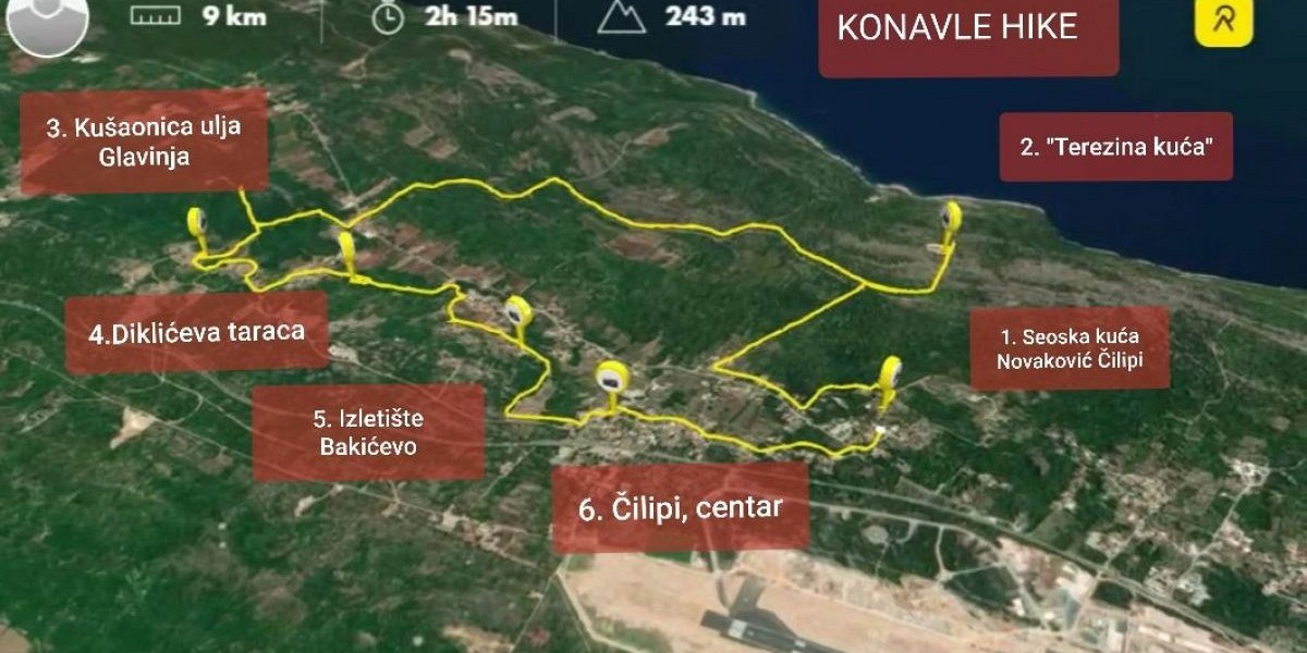 Poziv na vođenu pješaćku turu kroz Konavle  Čilipi- Grušići - Čilipi